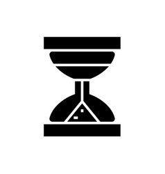 hourglass icon black sign on vector image