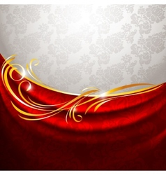 red fabric drapes vector image