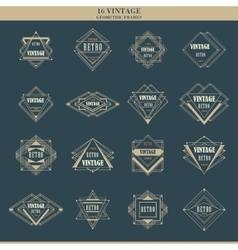 Set of line art deco logotypes frames borders vector image vector image