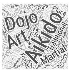 aikido dojo Word Cloud Concept vector image