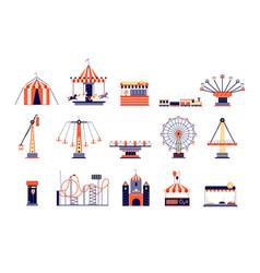 amusement park fun recreation playground vector image