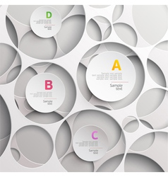 Background of white circles vector