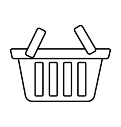Basket shop market icon outline vector