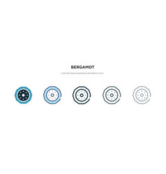 Bergamot icon in different style two colored and vector