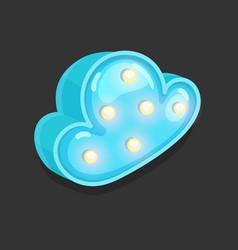 blue cloud light vector image
