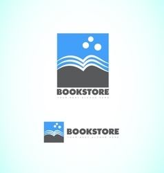 Bookstore logo vector