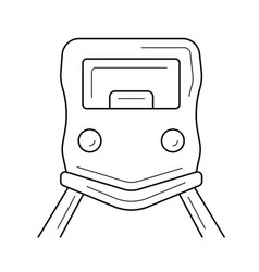 City tram line icon vector