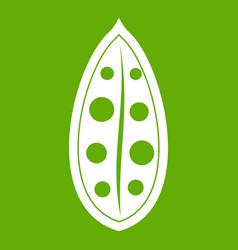 Cocoa pod icon green vector