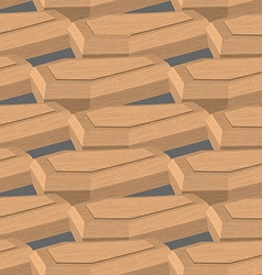 Coffin isometric Seamless pattern box for dead vector image