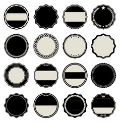 collection blank labels vector image