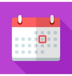 Colorful calendar icon in modern flat style with vector
