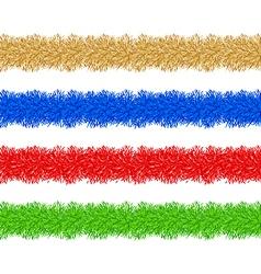 Colorful christmas tinsel vector