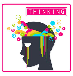 Colorful creative thinking brain vector