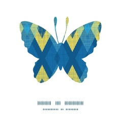 colorful fabric ikat diamond butterfly silhouette vector image