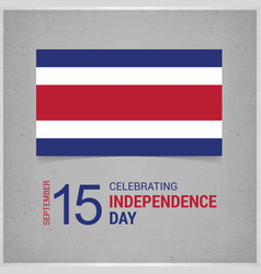 Costa rica independence day with grey background vector