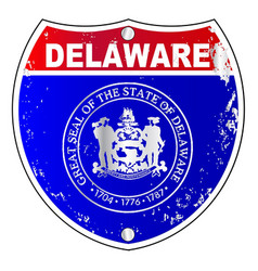 delaware interstate sign vector image