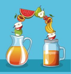 delicious fruit juice vector image