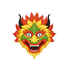 dragon head symbol of chinese traditional boat vector image