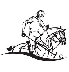 Equestrian polo emblem vector