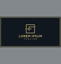 f elegance logo vector image