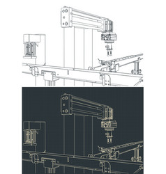 Factory line drawings vector