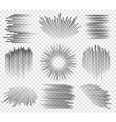 Fast lines manga motions vector image