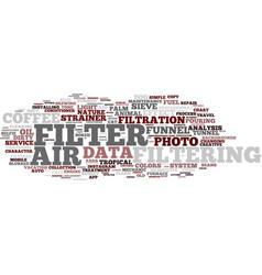 Filtering word cloud concept vector