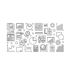 Financial audit minimal outline vector