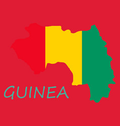 Flag map guinea vector