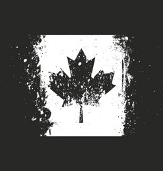 Flag of canada grungy worn scratched style vector