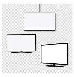 four k monitor led tv set transparent background vector image