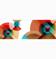 geometric circle abstract background creative vector image