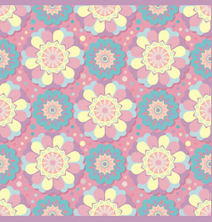 geometric floral pattern seamless vector image