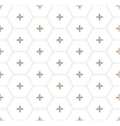 Gold honeycomb graphic seamless pattern over white vector
