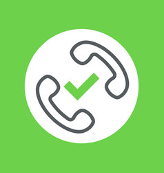 good connection handset symbol vector image