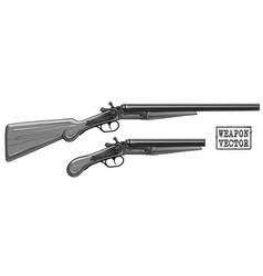 graphic silhouette old retro shotgun rifle vector image