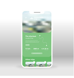 Green mountains ui ux gui screen for mobile apps vector