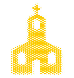 halftone dot christian church icon vector image