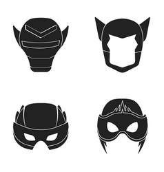 Helmet mask on the headmask super hero set vector