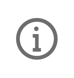 Information service help sign grey icon isolated vector