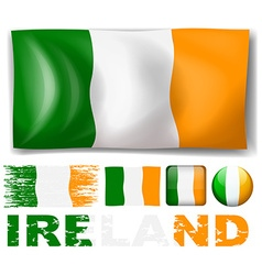 Ireland flag in different designs vector image