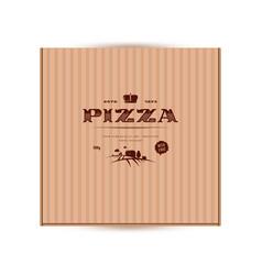 label design for box pizza in elegant style vector image