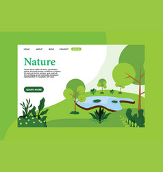 landing page with nature concept vector image