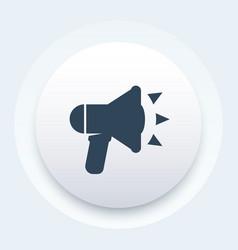 Loudspeaker icon megaphone bullhorn pictogram vector