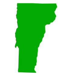 Map of vermont vector