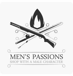Mens passions logo vector image