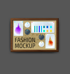 Mockup modern wall frame template layout template vector