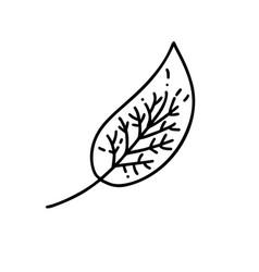 monoline leaf tree logo outline emblem in vector image