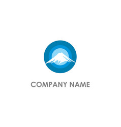 mountain round company logo vector image