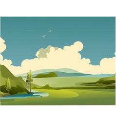 nature rural landscape summer day vector image